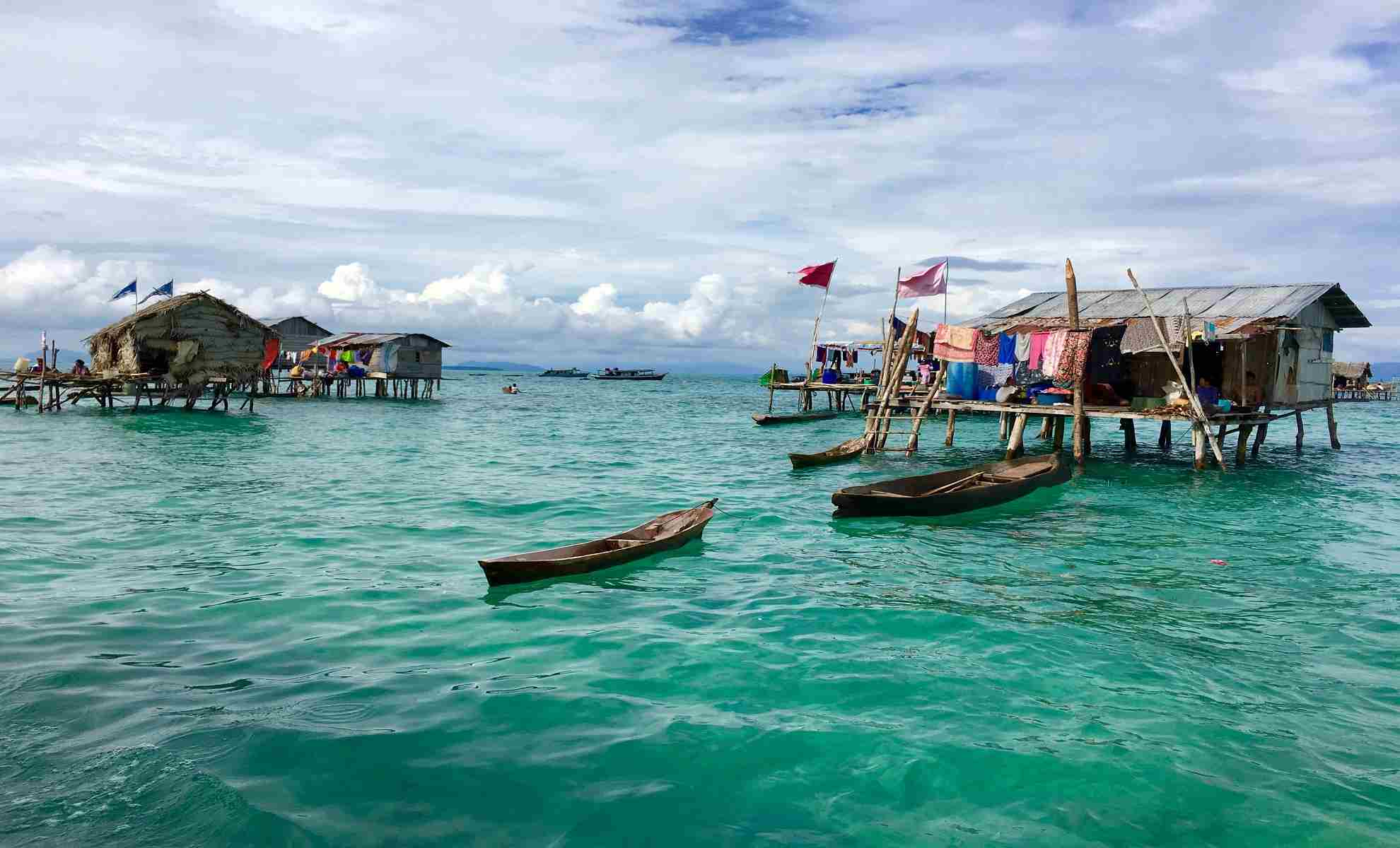 Borneo fishing village