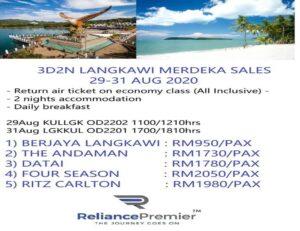 promotion 3d2n langkawi