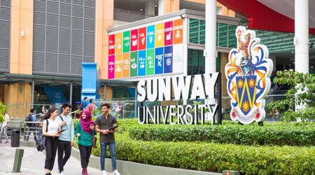 Sunway university campus outside view