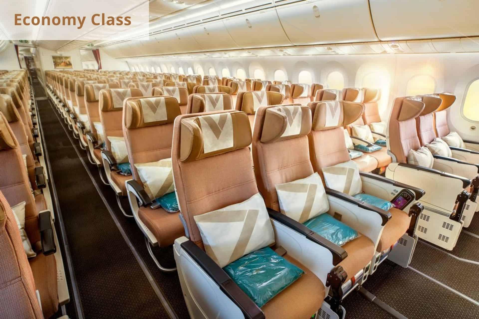 Etihad Airways ecomy class
