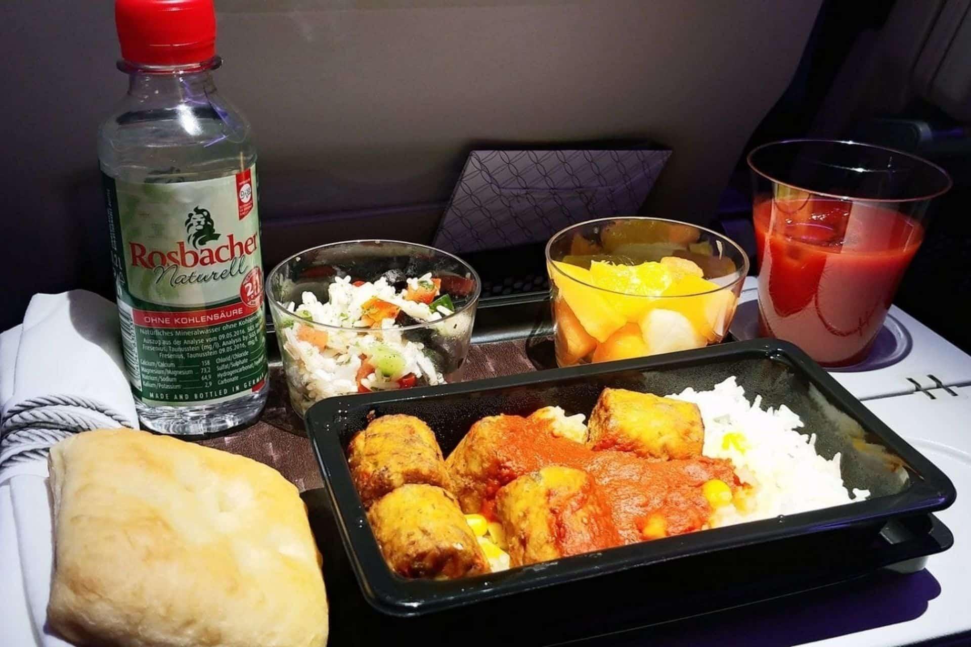 Qatar Airways Meals