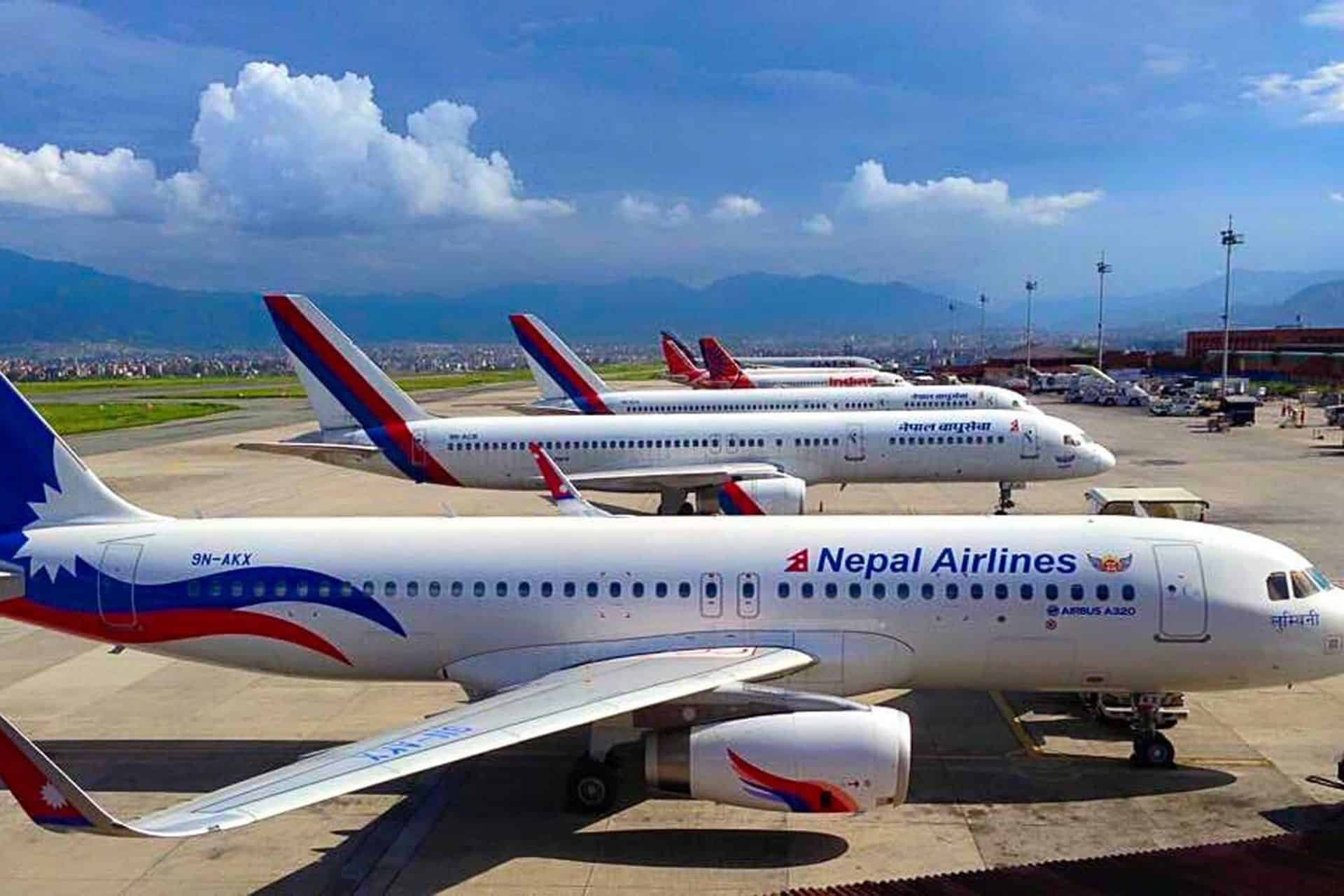 Nepal Airlines planes