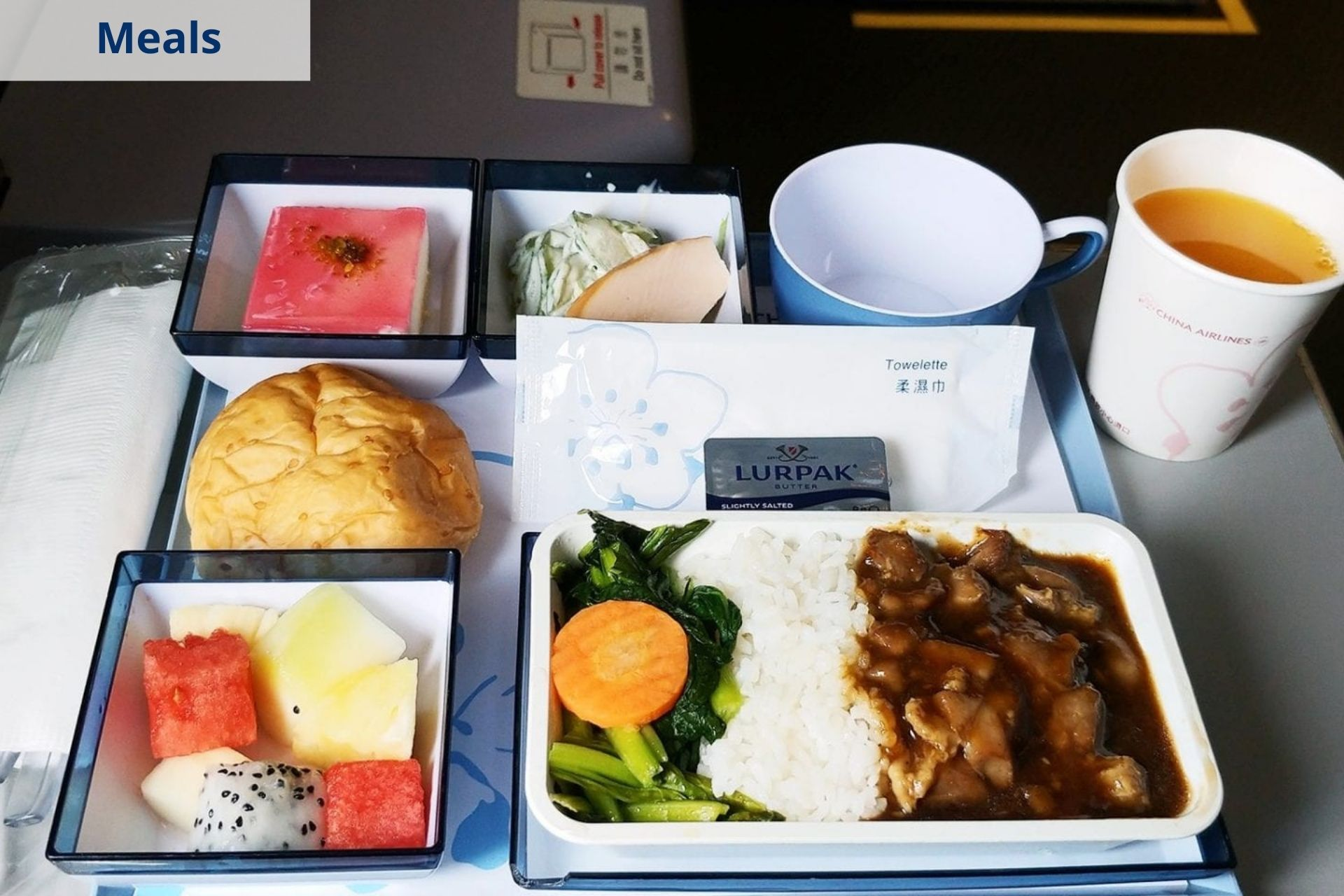 China Airlines meals