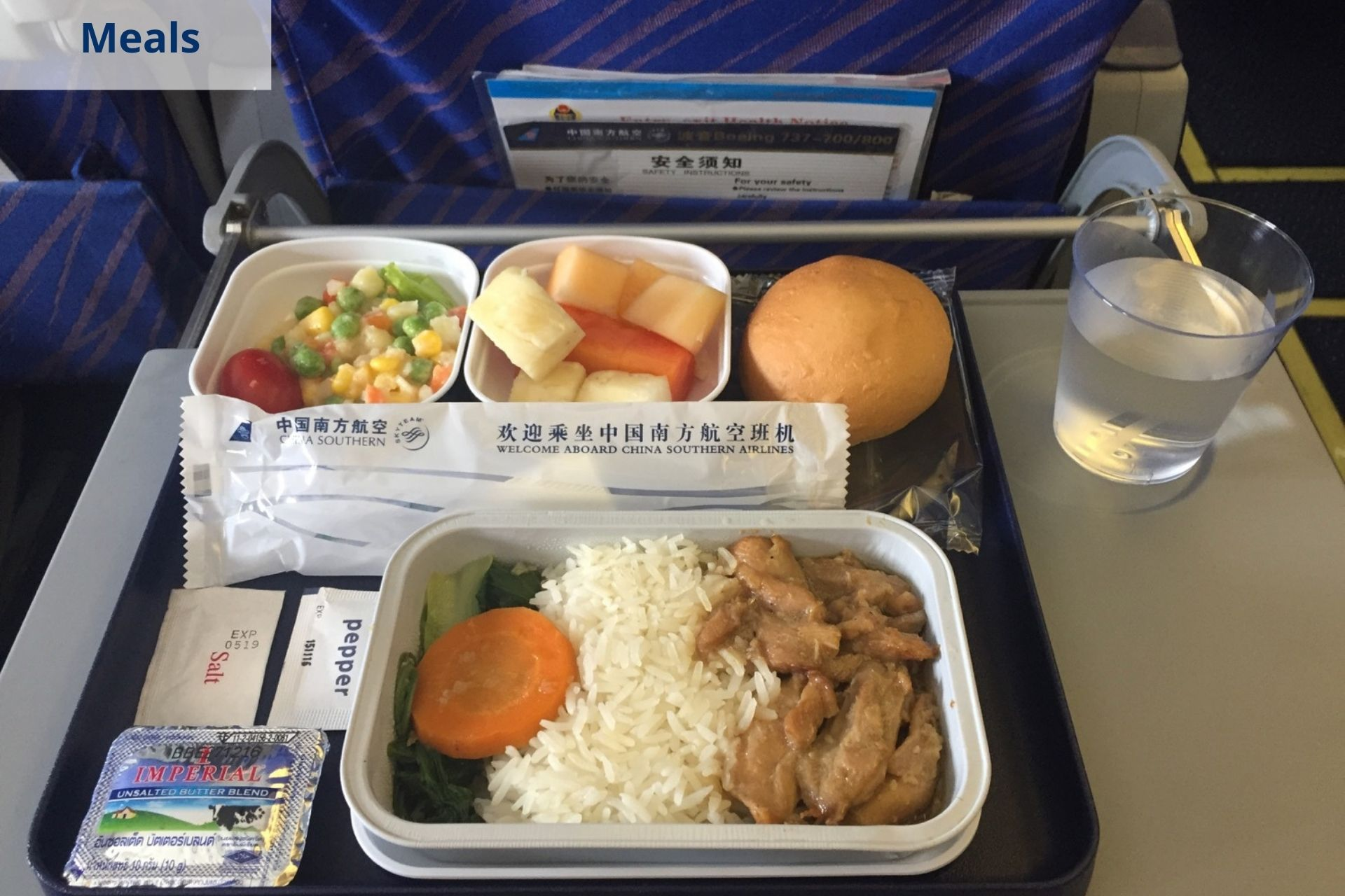 China Southern Airlines meals