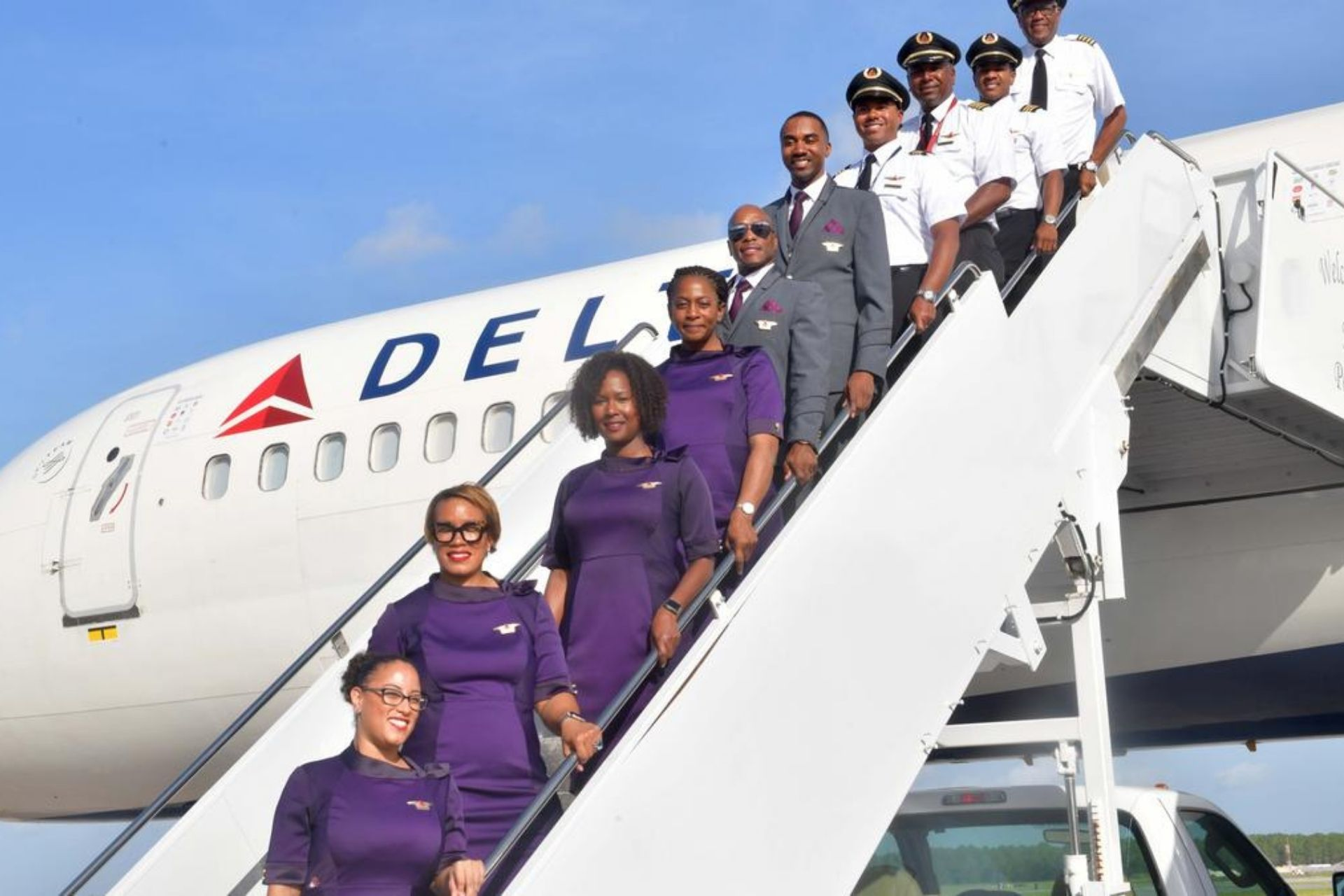 Delta Airlines crew