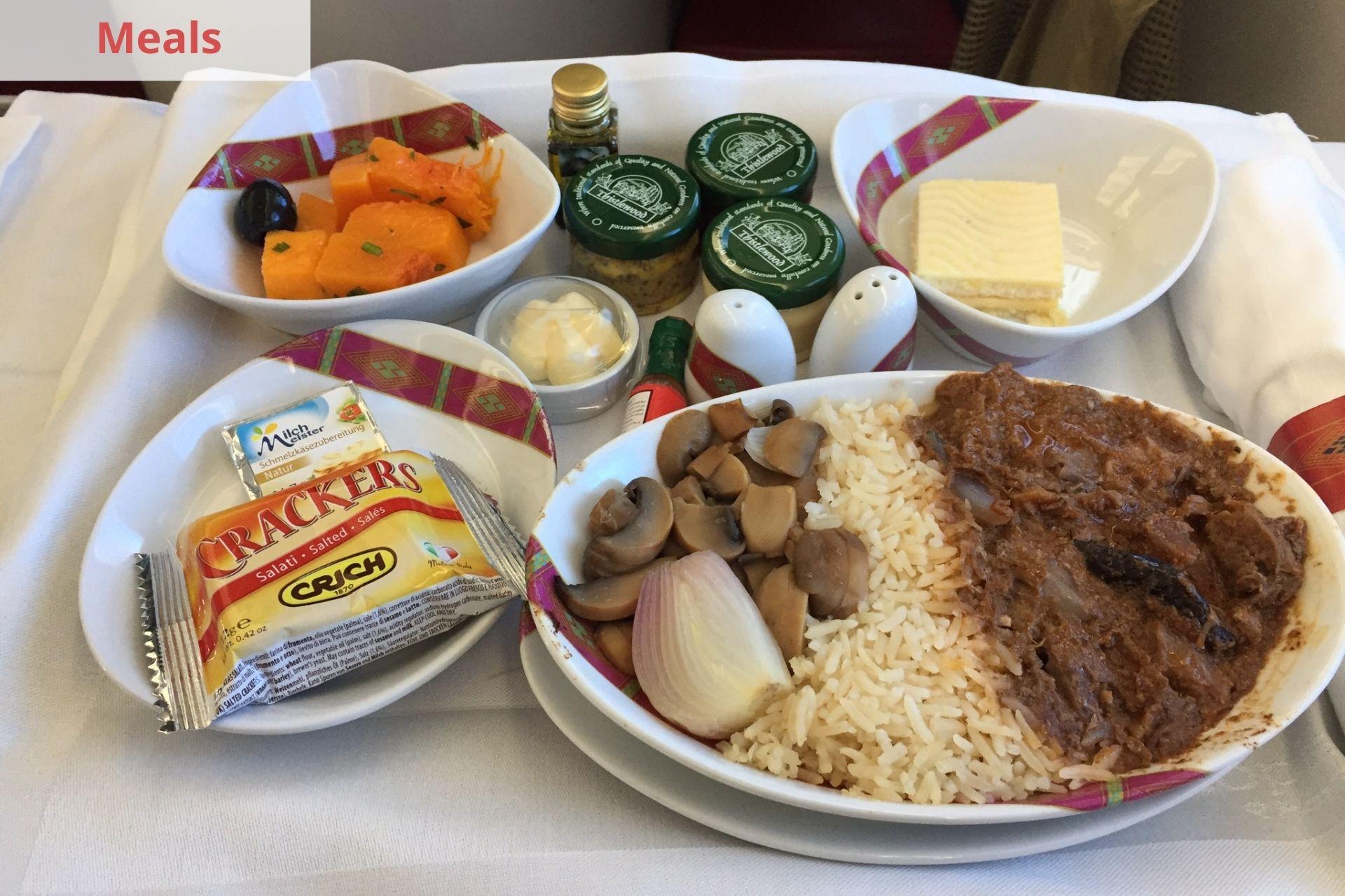 Ethiopian Airlines Meals