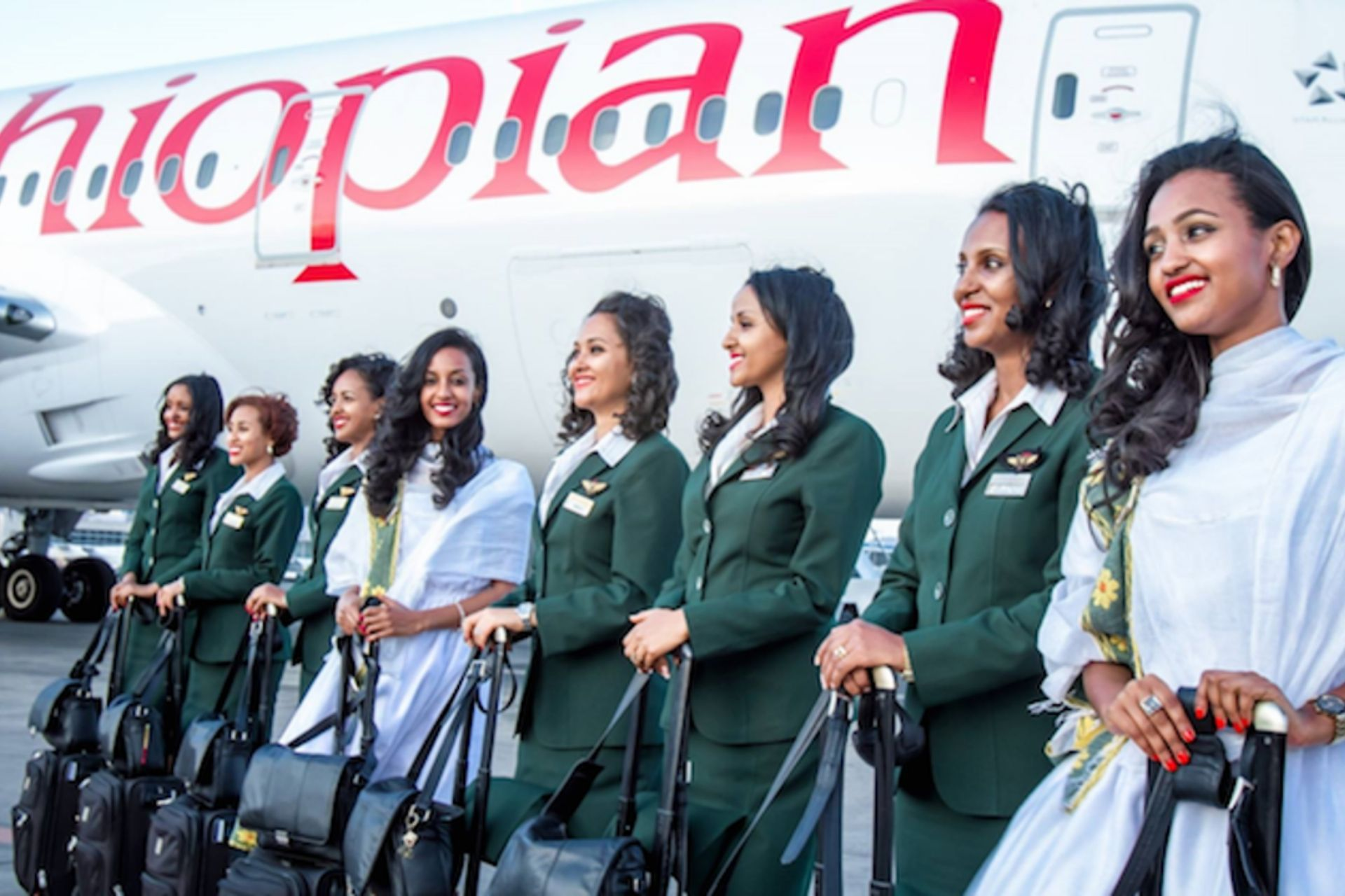 Ethiopian Airlines crew